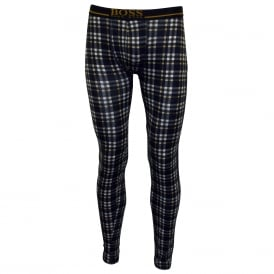 Classic Check 24 Print Long Johns, Blue