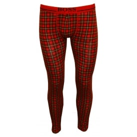Classic Check 24 Print Long Johns, Red/black