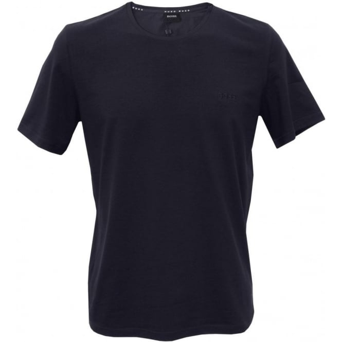 Hugo Boss Crew-Neck Stretch Cotton T-Shirt, Navy