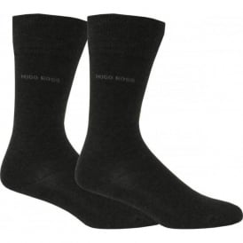 Essential Mens Socks with Cotton Blend, 2-pack in Dark Grey