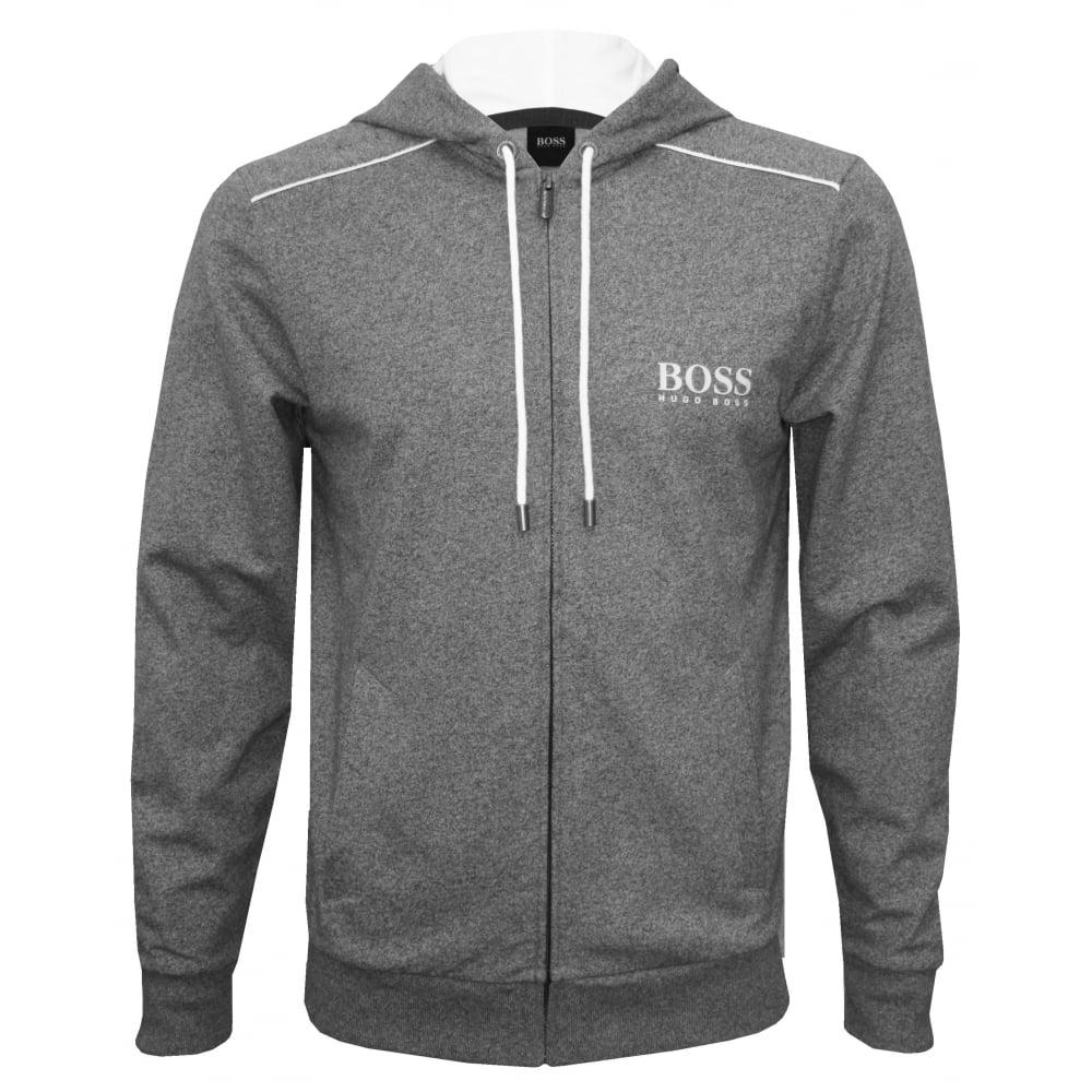 abc8c0583 Hugo Boss Heritage Zip-Thru Hooded Jacket, Marl Grey | UnderU