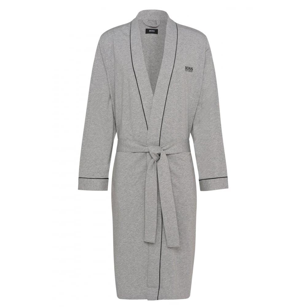 Hugo Boss Kimono Jersey Cotton Dressing Gown Grey Underu