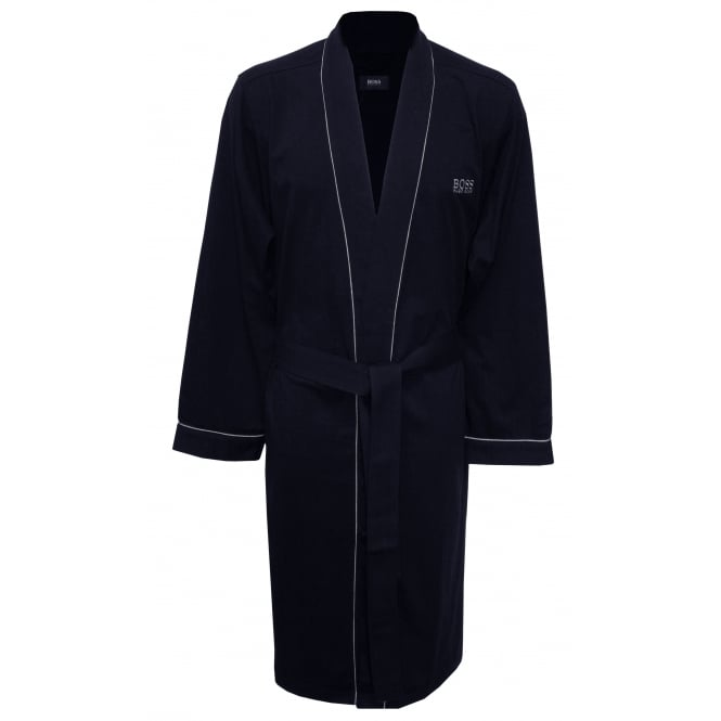 Hugo Boss Kimono Jersey Cotton Dressing Gown, Navy