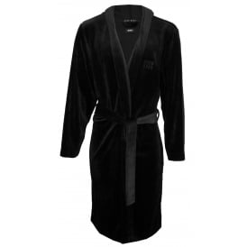 Luxe Velour Bathrobe, Black