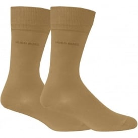 Mens Socks 2-pack with Cotton Blend in Beige, Essential Range