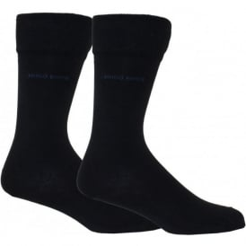 Mens Socks with Cotton Blend in Navy, 2-pack Essential Range