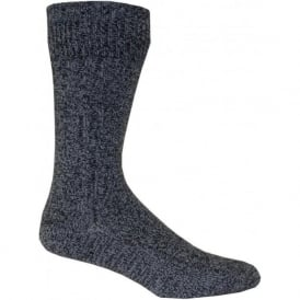 Mens Thick Boot Socks in Combed Cotton in Blue