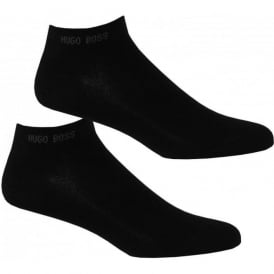 Mens Trainer Socks 2-Pack in Finest Soft Cotton in Black