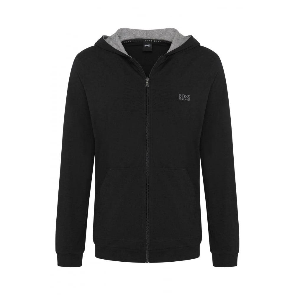 6c1f6cc48 Hugo Boss Mix & Match Zip-Thru Hooded Jacket, Black | UnderU