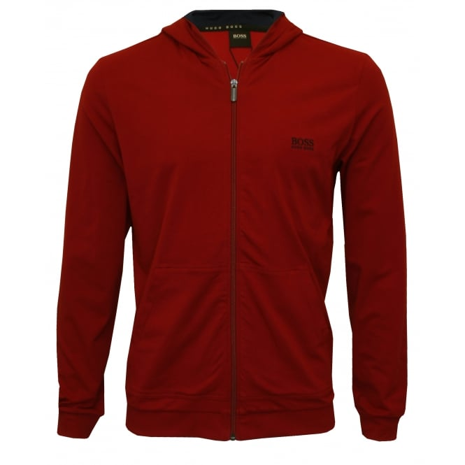 Hugo Boss Mix & Match Zip-Thru Hooded Jacket, Burgundy/navy