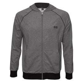 Mix & Match Zip-Thru Hooded Jacket, Marl Grey with black