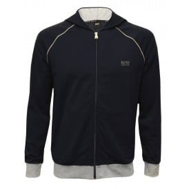 Mix & Match Zip-Thru Hooded Jacket, Navy with grey