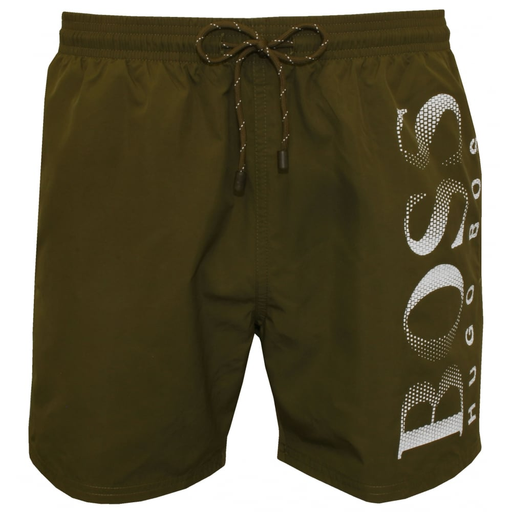 db418d48b7 Hugo Boss Octopus Swim Shorts, Khaki | Hugo Boss swimwear | UnderU