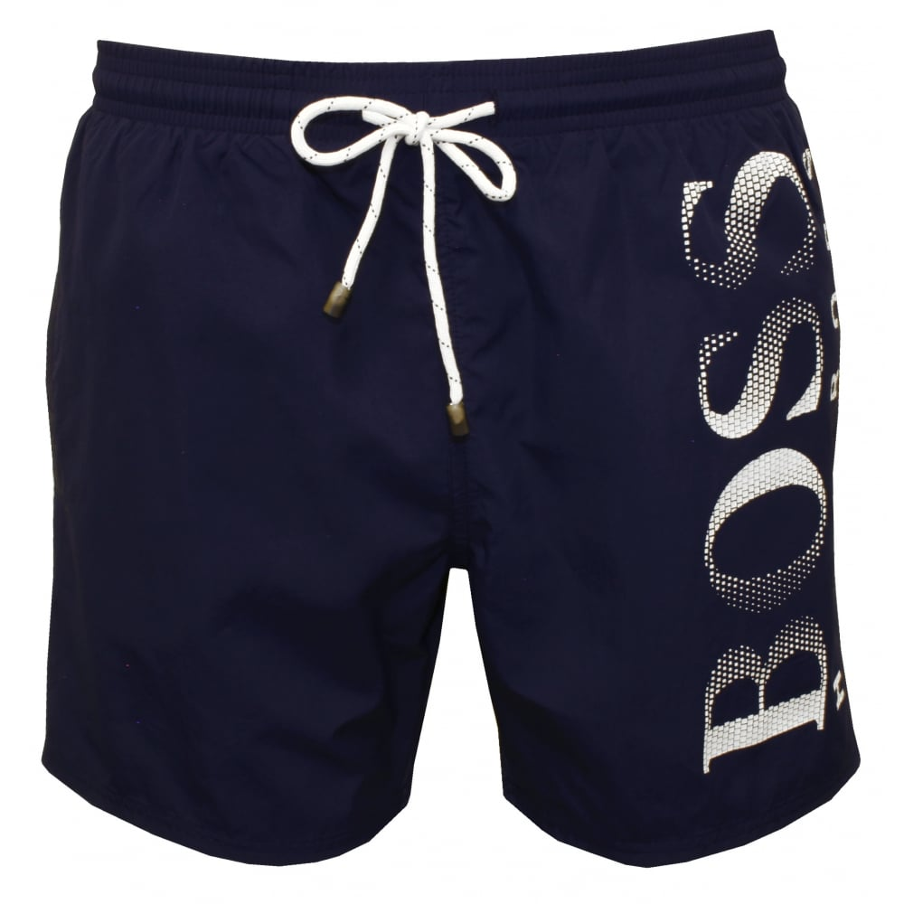 40311044 Hugo Boss Octopus Swim Shorts, Navy | Hugo Boss swimwear | UnderU
