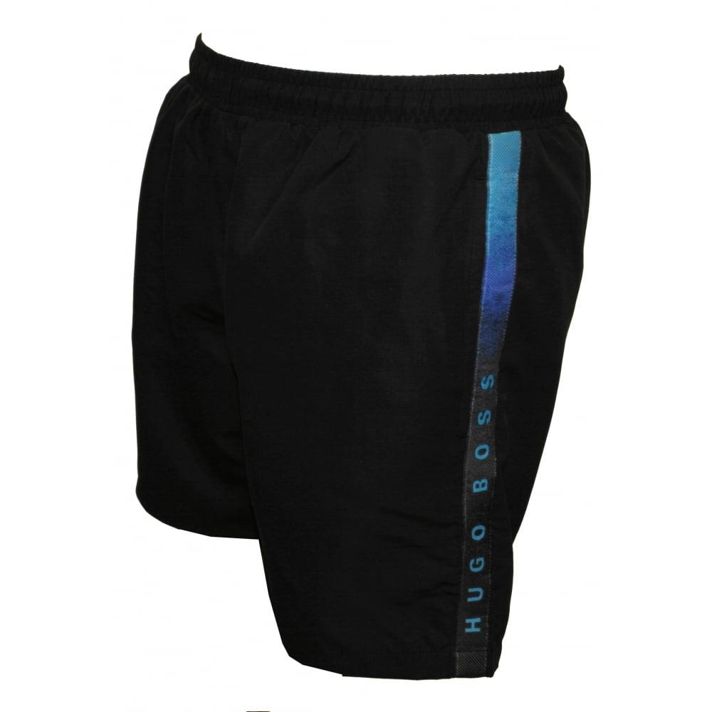 ca67b329 Hugo Boss Side Logo Trim Seabream Swim Shorts, Black | UnderU