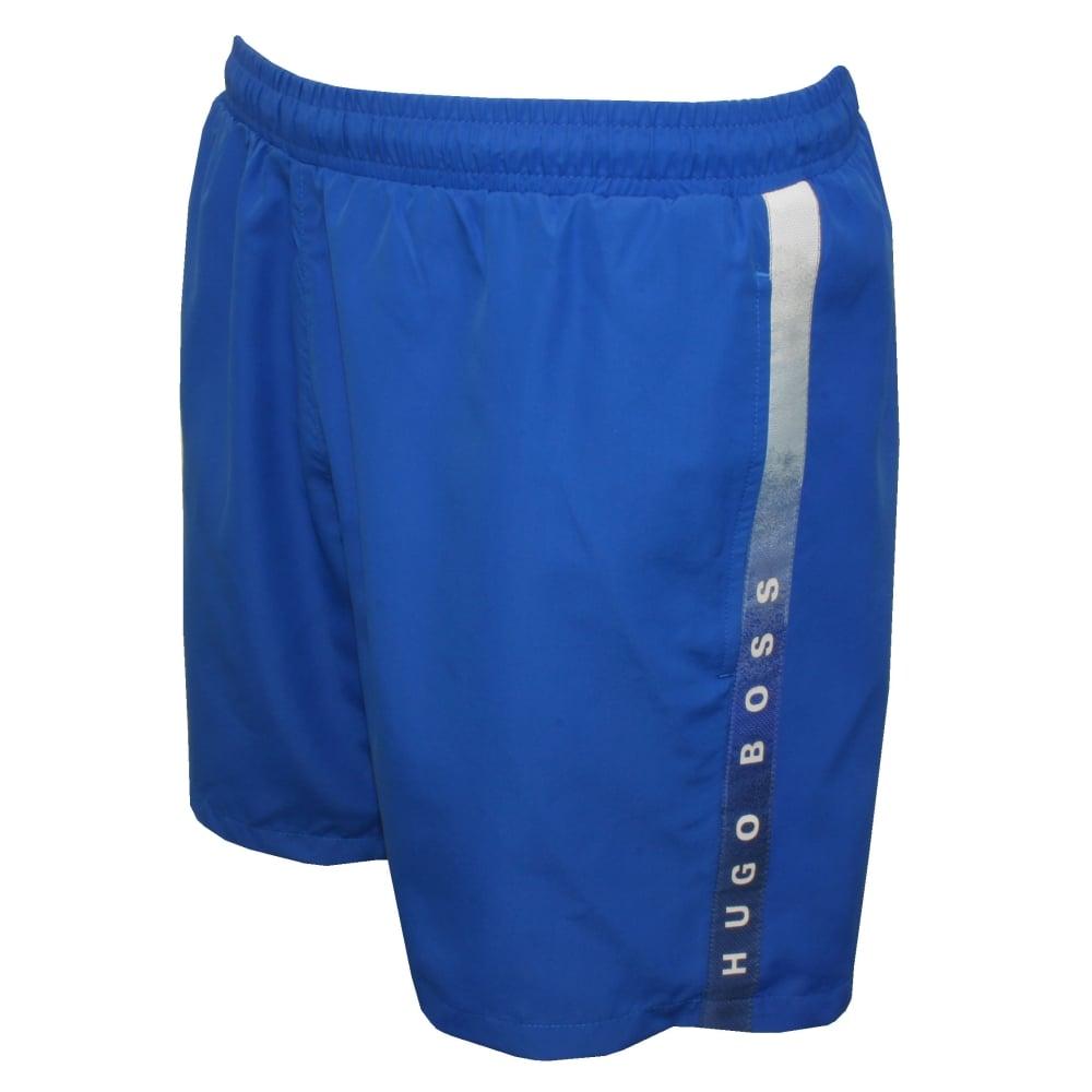 64ea0c4525 Hugo Boss Side Logo Trim Seabream Swim Shorts, Blue | UnderU