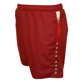 Side Logo Trim Seabream Swim Shorts, Deep Red