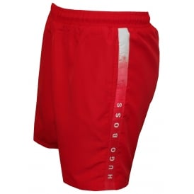 Side Logo Trim Seabream Swim Shorts, Vibrant Pink