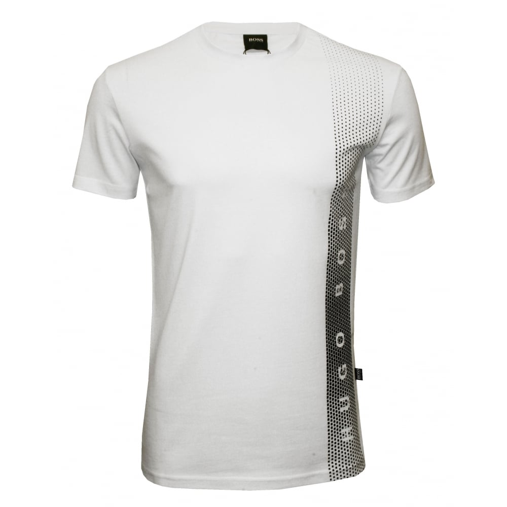 Hugo boss side logo uv absorbent crew neck t shirt white for Hugo boss t shirts online