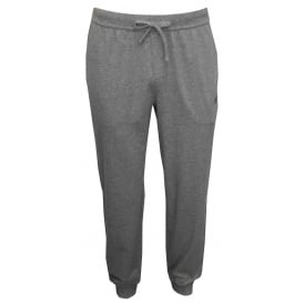 Single Jersey Cuffed Jogging Bottoms, Heather Grey