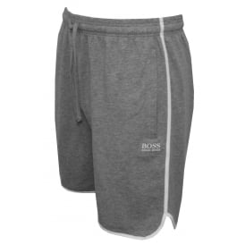 Single Jersey Tracksuit Shorts, Grey with white