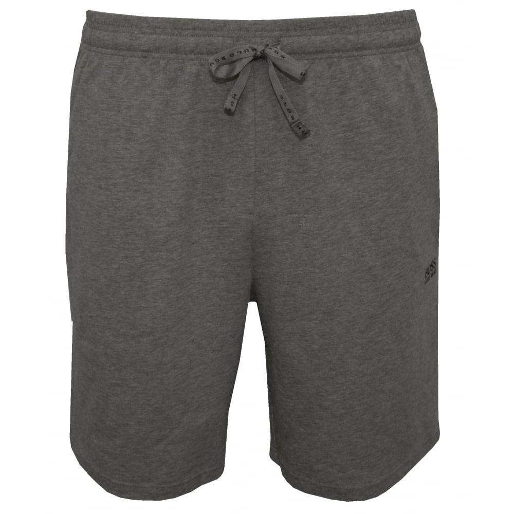 6d1092a62 Hugo Boss Single Jersey Tracksuit Shorts, Marl Grey | Hugo Boss ...