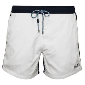 Snapper Swim Shorts, White/navy