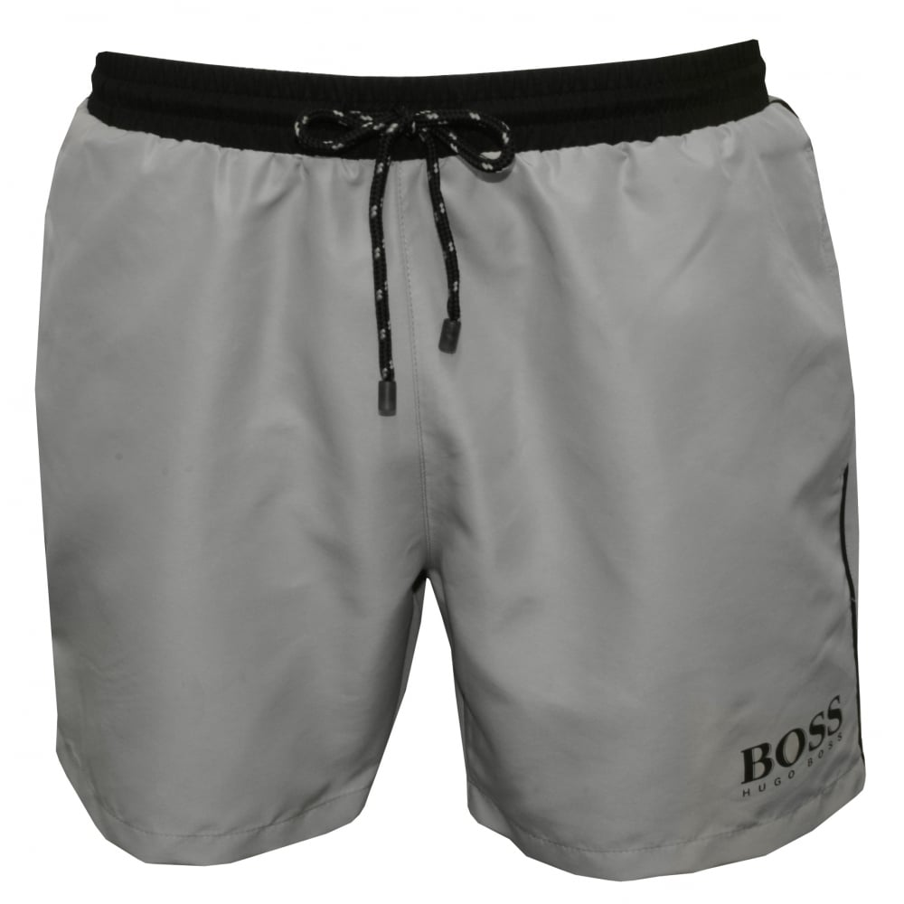 e4fe03799f Starfish Swim Shorts, Light Grey with black contrast