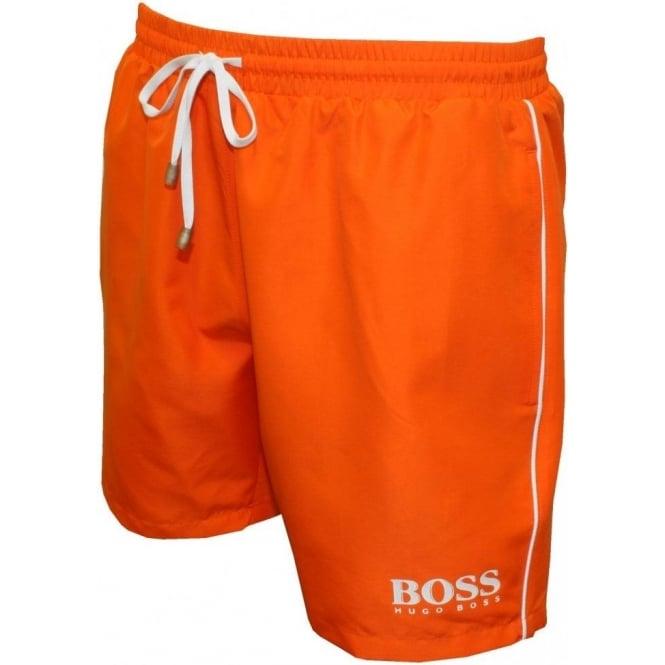 b9872b2cf Hugo Boss Starfish Swim Shorts, Orange | UnderU