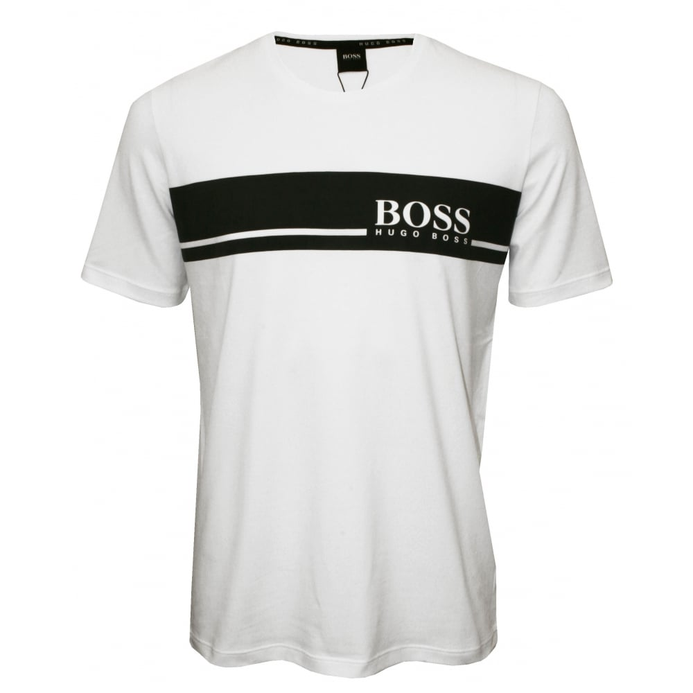 Hugo boss urban logo crew neck t shirt white with for Hugo boss t shirts online