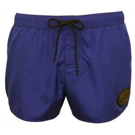 Iconic Piping Luxe Swim Shorts, Bluette/military