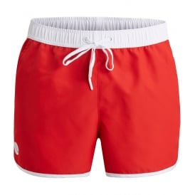 Iconic Sandro Athletic Swim Shorts, Red