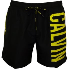 Intense Power Swim Shorts, Black/neon