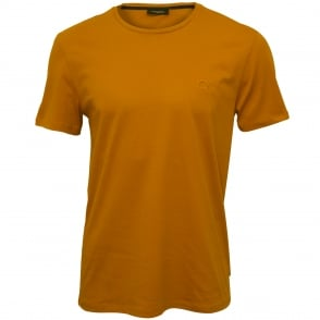 Jari Embossed Logo Crew-Neck T-Shirt, Buckthorn Brown