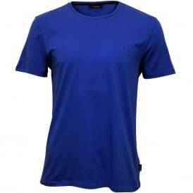 Jari Embossed Logo Crew-Neck T-Shirt, Olympian Blue