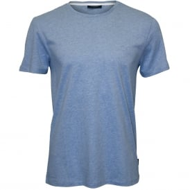 Jari Embossed Logo Crew-Neck T-Shirt, Sky Blue