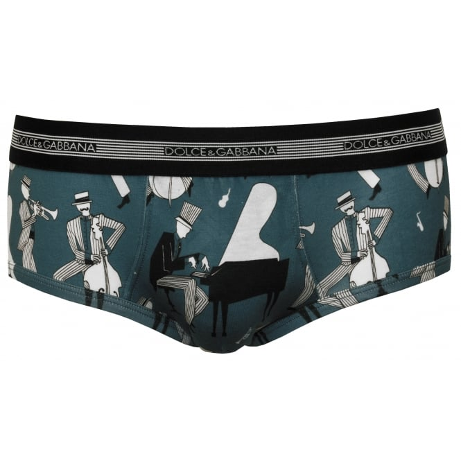 Dolce & Gabbana Jazz Musicians Brando Brief, Blue