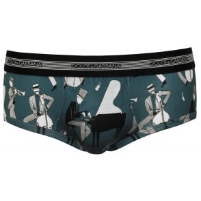Jazz Musicians Brando Brief, Blue
