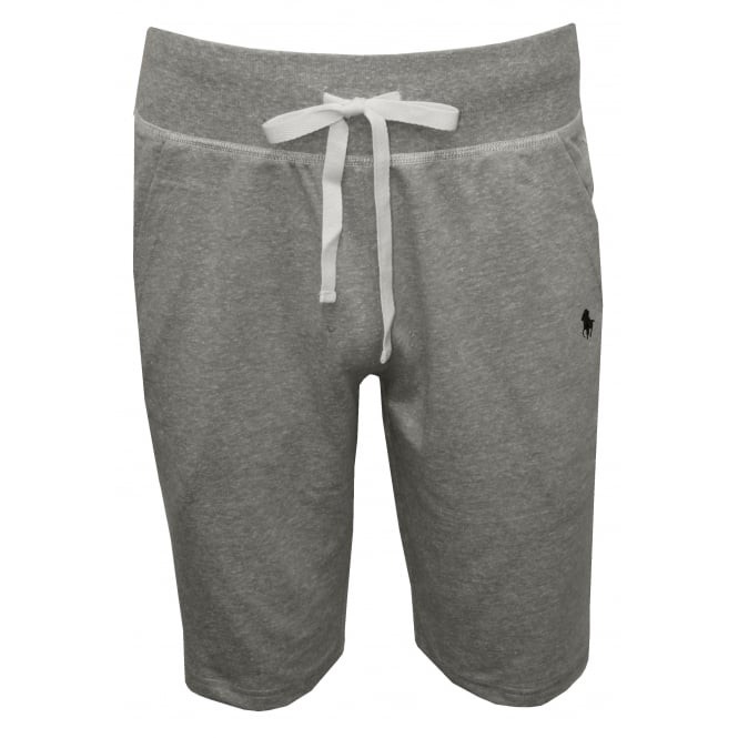 Polo Ralph Lauren Jersey Jogging Shorts, Heather Grey with navy
