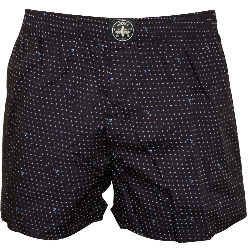 Check//Dots//Plaid in Blue//Navy Jockey 3-Pack Woven Men/'s Boxer Shorts