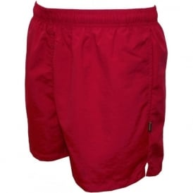 Basic Swim Shorts, Red