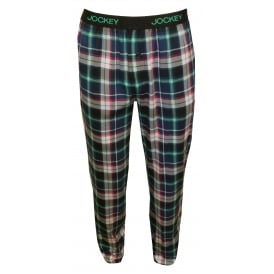 Cotton Modal Jersey Lounge Pants, Blue Check