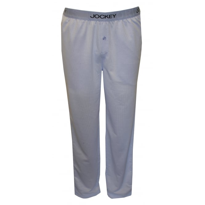Jockey Knitted Jacquard Fine Stripe Lounge Pants, Blue