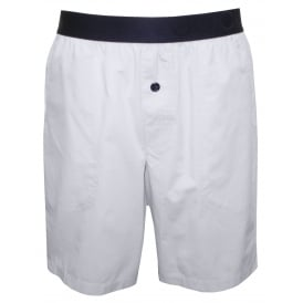 Woven Mercerised Cotton Lounge Shorts, Blue