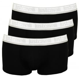 3-Pack Low-Rise Boxer Trunks, Black