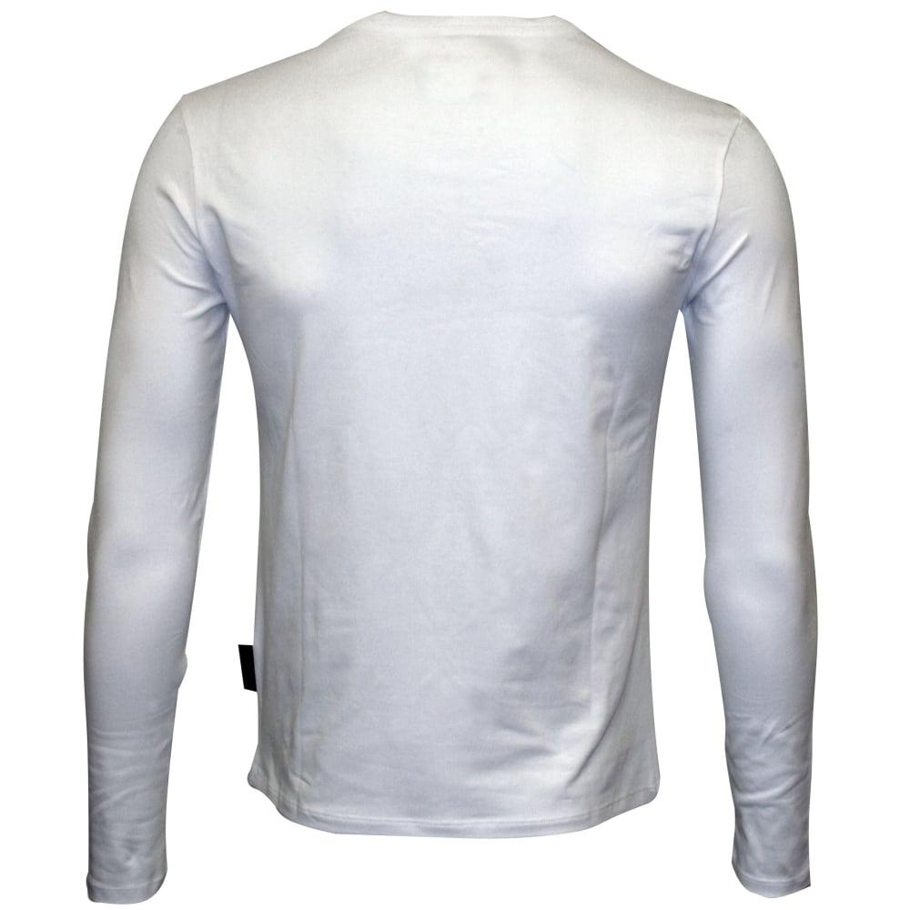7daaf048 Just Cavalli Hawk Silhouette Long-Sleeve T-Shirt, White   UnderU