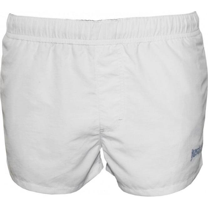 b3e70862e3 Just Cavalli Basic Men's Swim Shorts, White | UnderU