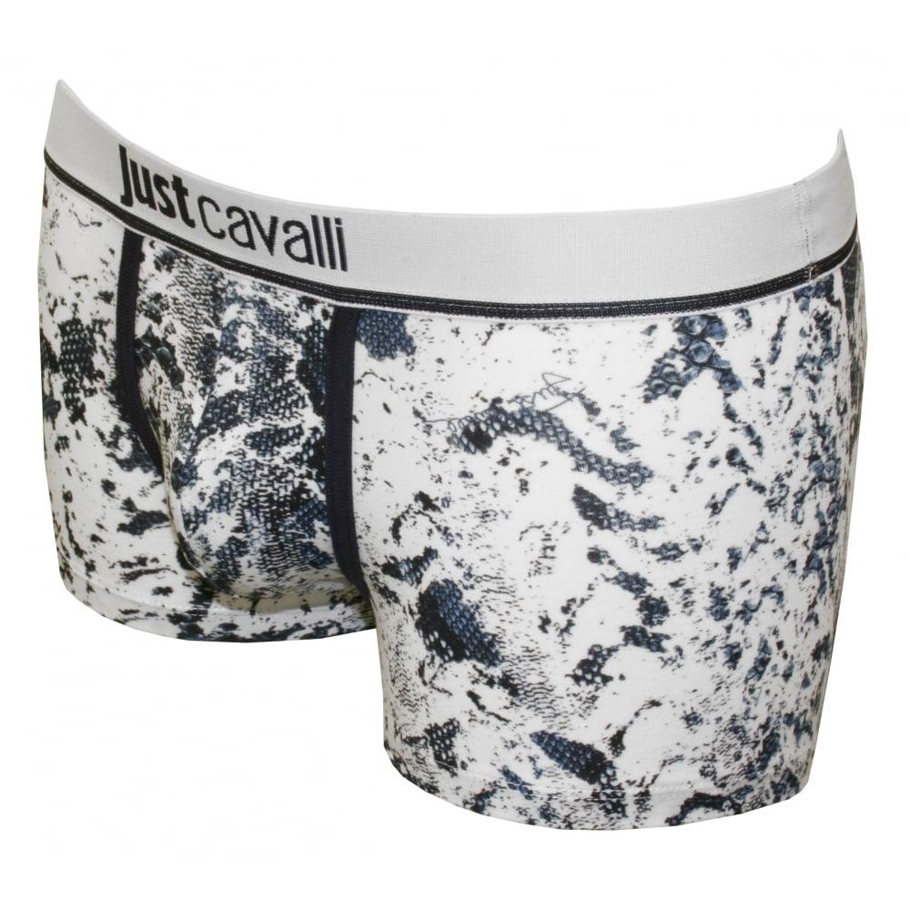 d81fa8ce8354 Just Cavalli Snakeskin Print Boxer Brief, Navy/White | UnderU