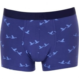 Kensington Ducks Boxer Trunk, Blue