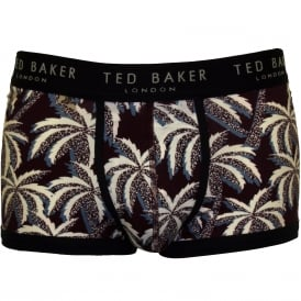 Large Palms Boxer Trunk, Burgundy/multi